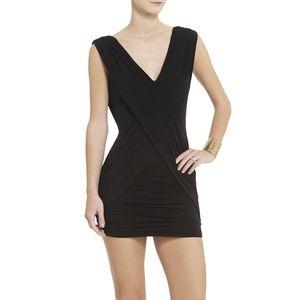 BCBG Alondra Criss Cross Black Dress